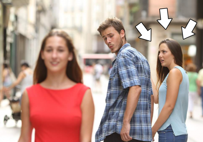 Do you know the distracted boyfriend meme