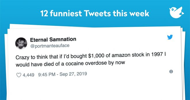Crazy to think that if I'd bought $1,000 of amazon stock in 1997 I would have died of a cocaine overdose by now