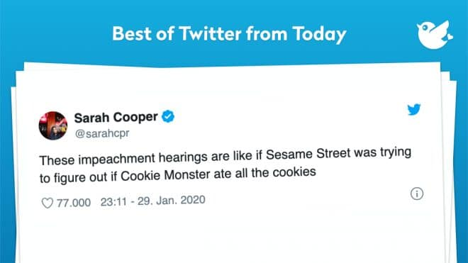 These impeachment hearings are like if Sesame Street was trying to figure out if Cookie Monster ate all the cookies