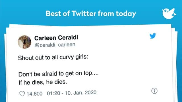 Shout out to all curvy girls: Don't be afraid to get on top.... If he dies, he dies.