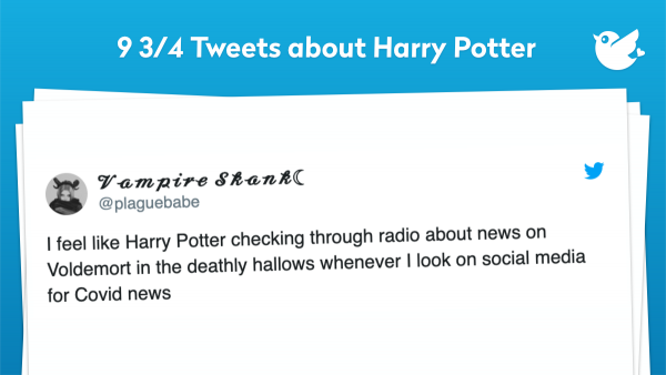 I feel like Harry Potter checking through radio about news on Voldemort in the deathly hallows whenever I look on social media for Covid news