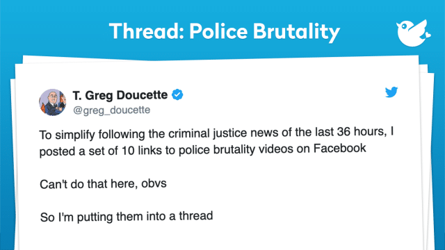 In today's special, we found supporting Tweets and evidence that police brutality is on the rise. It does not seem to be winding down. Not all cops are bad and not all cops abuse their power. But the ones that do abuse their power, are making its very citizen that they swore to protect fed up. By now you may have seen all the looting and burning down of buildings. It's becoming chaotic out there and the president's response is to send in the military. Granting the military to use brute force if needed. It's questionable that if the military steps it will only make things worse. We hope that the media covers more of the good cops that are out there kneeling and protesting against police brutality. We saw members of the Miami Police department hugging it out with its community and promising the people to use less force. If we can't de-escalate this situation we are looking at what can become the next civil war. I leave you guys with this famous quote- 'America will never be destroyed from the outside. If we falter and lose our freedoms, it will be because we destroyed ourselves' - Abraham Lincoln. Enjoy today's special and remember not all cops are bad.