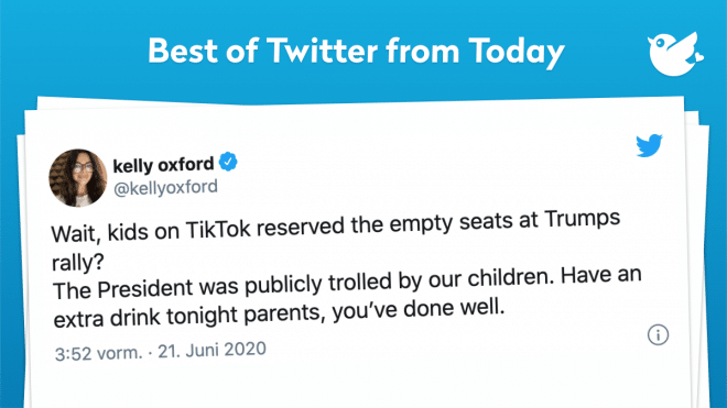 Wait, kids on TikTok reserved the empty seats at Trumps rally? The President was publicly trolled by our children. Have an extra drink tonight parents, you've done well.