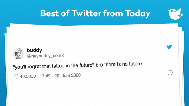 """""""you'll regret that tattoo in the future"""" bro there is no future"""