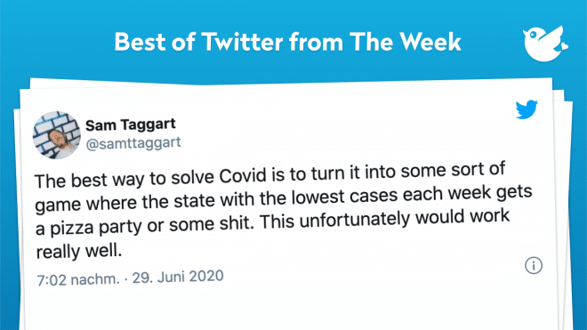 The best way to solve Covid is to turn it into some sort of game where the state with the lowest cases each week gets a pizza party or some shit. This unfortunately would work really well.