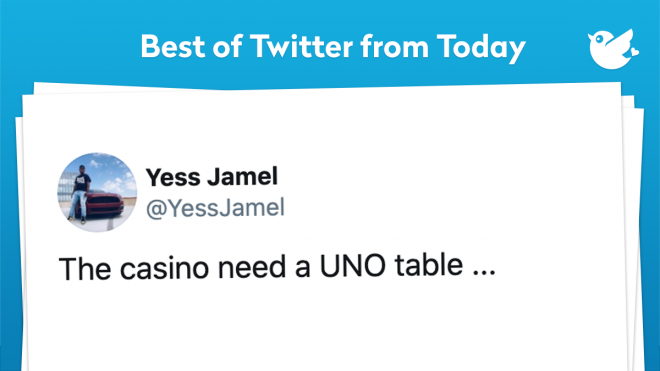 Can you imagine a UNO table in a casino? I honestly don't know if I will be clearing tables or throwing my drink at people who decided to +4 me. I mean UNO is a family game, but with money, on the table, you are about to get skipped and reversed into a +4. Or maybe I'll be getting kicked out of every casino in Las Vegas, or just prohibited from bringing drinks to the table. But we will just have to wait and see. We hope you enjoy today's Daily!