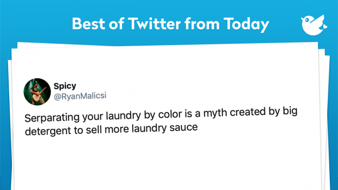 Serparating your laundry by color is a myth created by big detergent to sell more laundry sauce