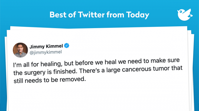I'm all for healing, but before we heal we need to make sure the surgery is finished. There's a large cancerous tumor that still needs to be removed.