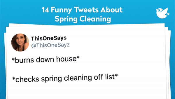 *burns down house* *checks spring cleaning off list*