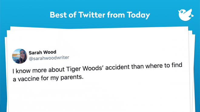 I know more about Tiger Woods' accident than where to find a vaccine for my parents.